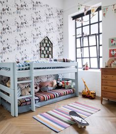 Cute house shelf above bed {Apartment Therapy}