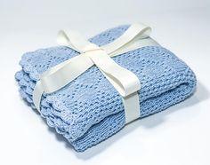 Cotton Baby Blanket Baby Blue Blanket Knit on Amazing Baby Photo 569 Chevron Baby Blankets, Blue Baby Blanket, Baby Receiving Blankets, Cotton Baby Blankets, Knitted Baby Blankets, Baby Boy Blankets, Crochet Baby Blanket Beginner, Crochet Blanket Patterns, Baby Knitting