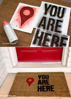 Ideias para customizar capachos Do it yourself popularity goes on full speed like all the time today, too! Porta Diy, Fun Crafts, Diy And Crafts, Creation Deco, Ideias Diy, Home And Deco, Diy Home Decor, Craft Projects, Project Ideas