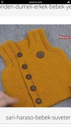 Artículos similares a Cárdigan de punto bebé mano. Baby Cardigan, Cardigan Bebe, Baby Boy Sweater, Baby Pullover, Baby Knitting Patterns, Knitting For Kids, Crochet For Kids, Free Knitting, Knit Crochet