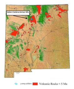 Jemez Volcanic Field Map