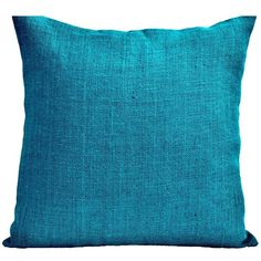 Amore Beaute Handmade Burlap pillow covers 16x16- Decorative throw... ($28) ❤ liked on Polyvore featuring home, home decor, throw pillows, burlap home decor, blue accent pillows, blue home decor, green home accessories and burlap throw pillows