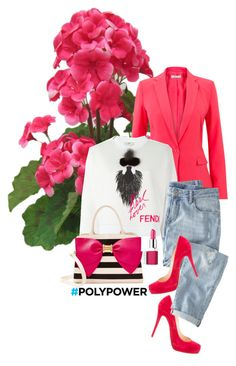 """P-P-PINK!"" by saraishi ❤ liked on Polyvore featuring Fendi, Christian Louboutin, Wrap, Clinique, Betsey Johnson, Pink, polyvoreeditorial, polyvorecontest and PolyPower"