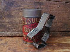 Early Advertising Davis Baking Powder Tin Goose by prairieantiques