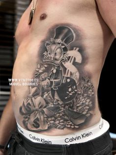 Tatuaje del Tío Gilito - Miguel Bohigues Vtattoo