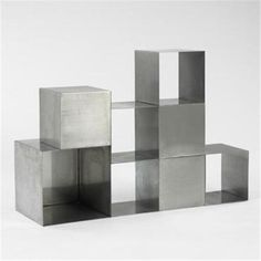 Maria Pergay, chrome-plated steel storage cubes, c 1975 Elements Four, Modern Furniture, Furniture Design, Armoire, Monochrom, Cube Storage, Chrome Plating, Decoration, Metal