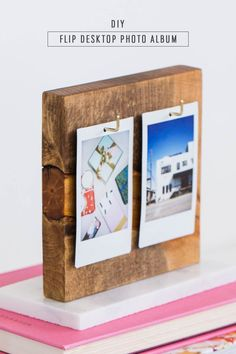 DIY Flip Photo Album by Ashley Rose of Sugar & Cloth - Houston Diy Photo, Diy Album Photo, Photo Ideas, Creative Crafts, Diy And Crafts, Instax Mini Ideas, Recycler Diy, Polaroid Display, Polaroid Pictures Display