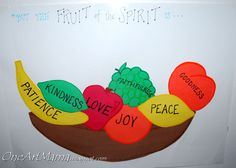 "a craft related to our ""fruit of the week.""  We also add a fruit to this bowl that's displayed on his bedroom door."