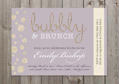 Bubbly & Brunch Champagne Bridal Shower by GaiaDesignStudios