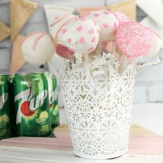 Valentine's Day 7UP Cake Pops