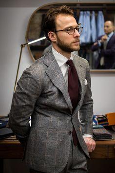 All Things Sartorial Gentleman Mode, Modern Gentleman, Gentleman Style, Mens Fashion Suits, Mens Suits, Fashion Menswear, Grey Suits, Fashion Office, Men's Fashion