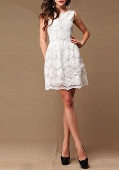 Perfect little white dress for a party, tea, or rehearsal dinner.