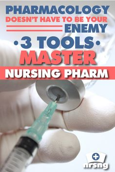 3 tools to master nursing pharmacology. so helpful for nursing students and…