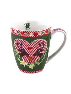 Zwei verliebte Hirsche auf dieser schönen Tasse von Adelheid
