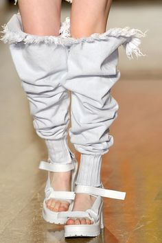 ripped bleached denim pants | FASHION EAST spring summer 2012