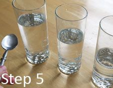 Simple water glass xylophone science project for preschool and elementary kids