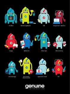 digital monsters • genuine interactive by Nicole Martinez, via Behance