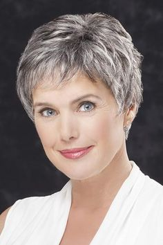 Lace Front Straight Cropped Grey Hair Wigs (SKU: – Short Wigs – Wigs – Daily Posts for Women Grey Hair Wig, Short Grey Hair, Short Hair Wigs, Short Hair With Layers, Human Hair Wigs, Wavy Hair, Black Hair, Hair Styles For Women Over 50, Short Hair Cuts For Women