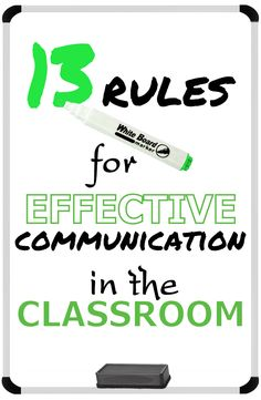 """13 Rules for Effective Communication in the Classroom: Rule #1 - We won't ever use the words """"NEVER"""" or """"ALWAYS."""" by Created for Learning"""