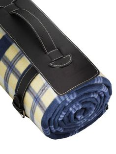 Outdoor Blanket - Water Proof Backing, Luxury Soft Leather Carrying Handle, Chequered Style Large Blanket, Very Easy To Fold Beach Blanket, Picnic Blanket, Outdoor Blanket, Gifts For Dad, Baby Gifts, Hammock Tent, Kids Line, Large Blankets, Nursery Bedding