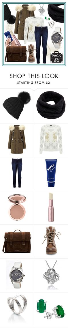 """""""#packandgo"""" by edin-levic ❤ liked on Polyvore featuring Black, Helmut Lang, Miss Selfridge, M&Co, Levi's, Nivea, Too Faced Cosmetics, Dr. Martens, Steve Madden and Bertha"""