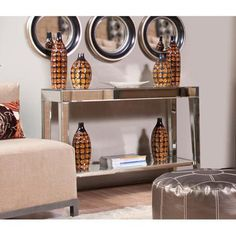 Wildon Home   Mirrored Console Table
