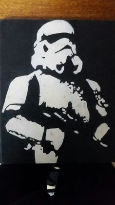 Stormtrooper stencil template stencil templates for Art minimaliste pdf