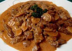 recettes: Plat principal: Filet de boeuf Stroganov