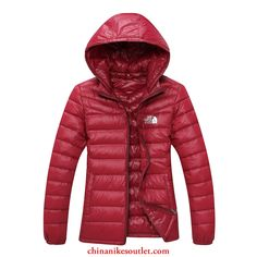 The North Face Nuptse Goose Womens Down Jackets Scarlet - Click Image to Close