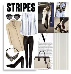 """""""Striped Friday"""" by hawkeye4 on Polyvore featuring Topshop, MANGO, Gray & Willow, Dolce&Gabbana, Nakamol Design, Yves Saint Laurent, Kate Spade and stripes"""