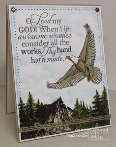 ODBD How Great Thou Art, ODBD On Eagles' Wings, ODBD Keep Climbing, Card Designer Angie Crockett