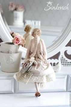 Куклы Тильды ручной работы. Ярмарка Мастеров - ручная работа. Купить Адель. Handmade. Тильда, кукла интерьерная ♡