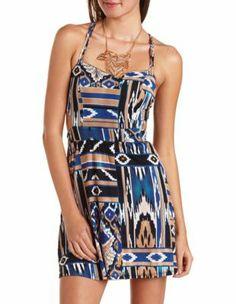 strappy cutout a-line dress