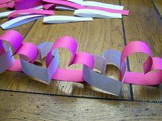 Heart paper chains.. So cute!!