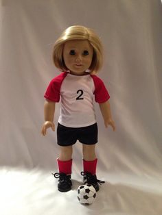 18 Doll Soccer Outfit for American Girl Dolls by pleasantcompany01, $22.00