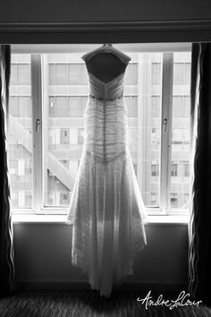 A wedding dress from the back   Andre LaCour Photography