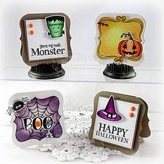 Halloween Doodles Mini Bracket Notecard Set #3x3notecards, #Halloween, #Cardmaking