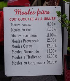 Moules ~ Frites