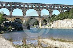 Roman aqueduct Pont-du-Gard