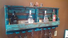 rustic pallet wine/liquor rack by upCycledreCreations on Etsy, $75.00