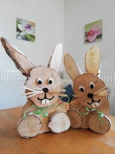 A Comprehensive Overview on Home Decoration - Modern Decor Crafts, Diy And Crafts, Arts And Crafts, Bunny Crafts, Easter Crafts, Wood Log Crafts, Diy Wood, Christmas Crafts For Kids, Easter Wreaths