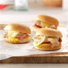 Swiss Chicken Sliders Recipe from Taste of Home's Simple & Delicious Magazine