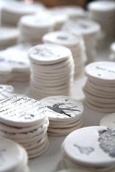 Salt dough, stamped. 1 cup salt, 2 cups all purpose flour, 1 cup luke warm water = cuteness by ViolaBlackRaven