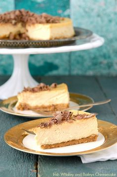 Irish Whiskey and Baileys Cheesecake - BoulderLocavore.com