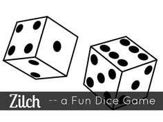 Zilch is an easy-to-learn dice game that the whole family will enjoy -- especially tweens and teens. Roll as many points as possible. But watch out! You might get zilch! Dice Games, Activity Games, Math Games, Fun Games, Games For Kids, Games To Play, Articulation Activities, Therapy Activities, Senior Activities