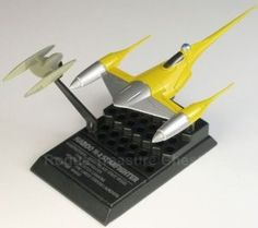 F-Toys confect DISNEY STAR WARS VEHICLE COLLECTION 5 #4 Naboo N-1 Starfighter 1/144 Scale Model Figure Yellow