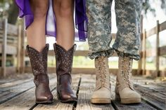 Love the boots! Military couple engagement shoot - Ashfall Mixed Media via The Bride Link