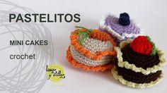 Tutorial Pastelitos Crochet  o Ganchillo Mini Cakes (English Subtitles)
