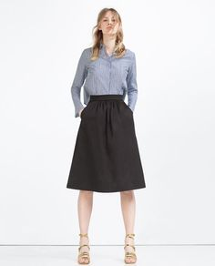 SKIRT WITH POCKETS-View All-SKIRTS-WOMAN   ZARA United States