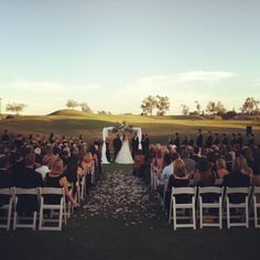Beautiful chuppah for a golf course wedding